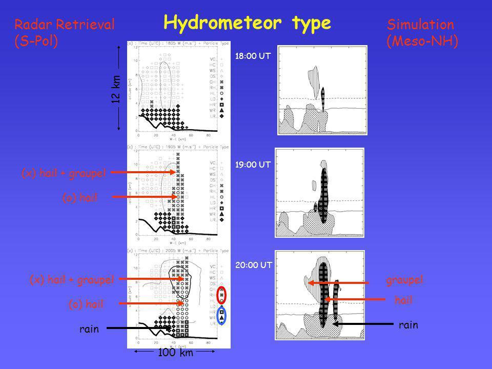 Hydrometeor type Radar Retrieval (S-Pol) Simulation (Meso-NH) 12 km
