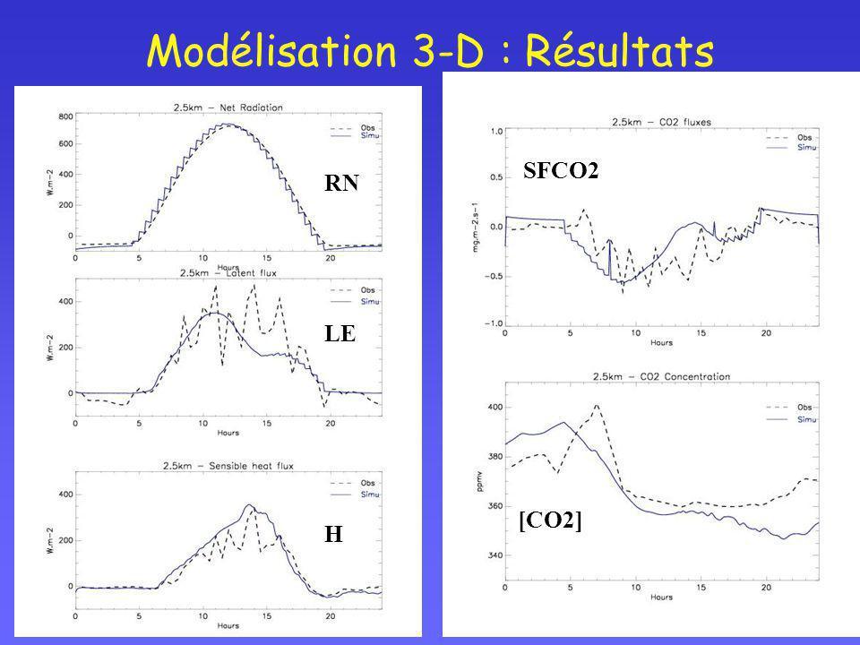 Modélisation 3-D : Résultats