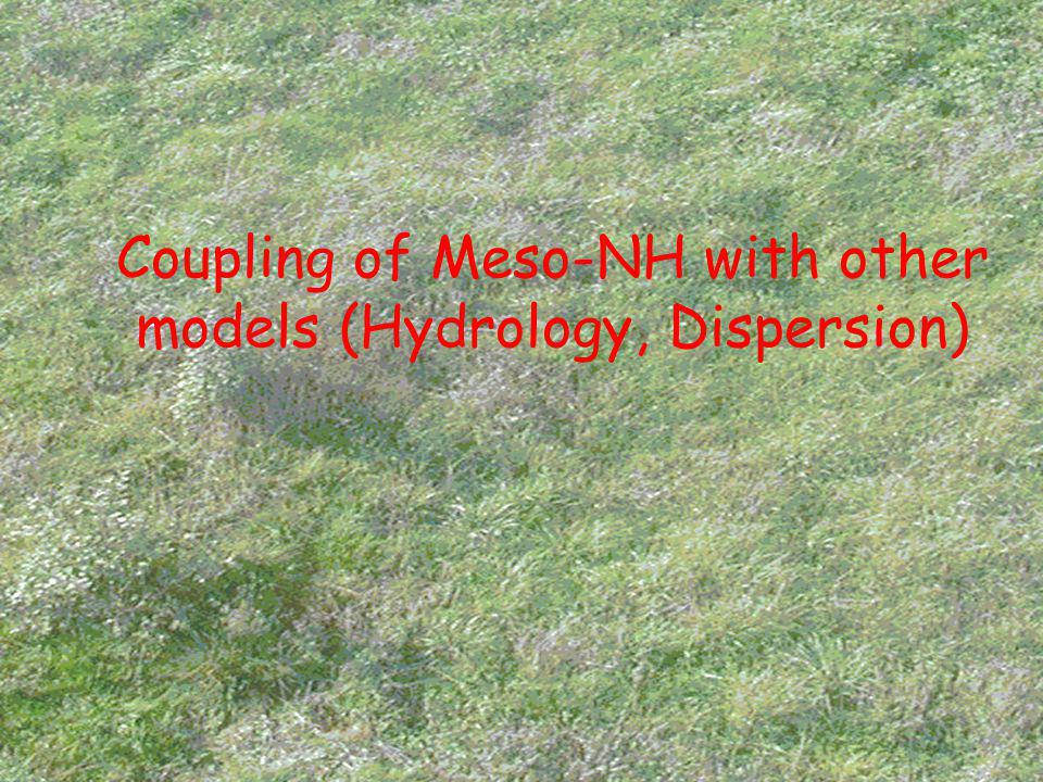 Coupling of Meso-NH with other models (Hydrology, Dispersion)