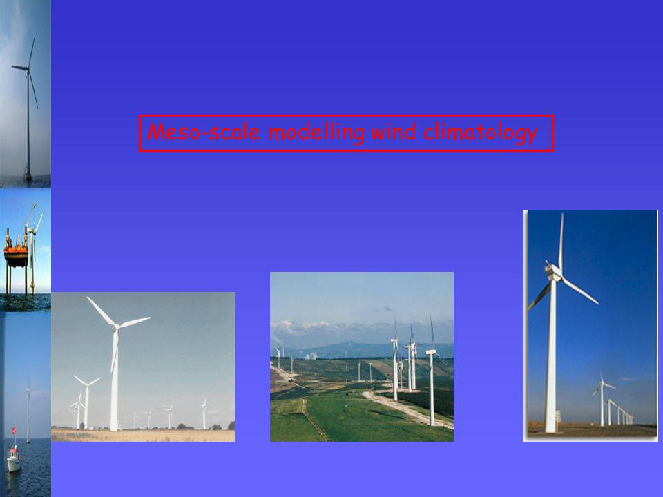 Meso-scale modelling wind climatology