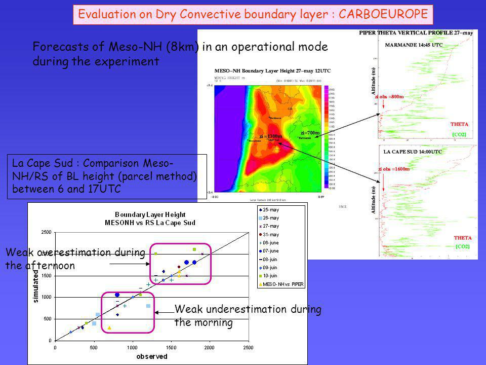 Evaluation on Dry Convective boundary layer : CARBOEUROPE