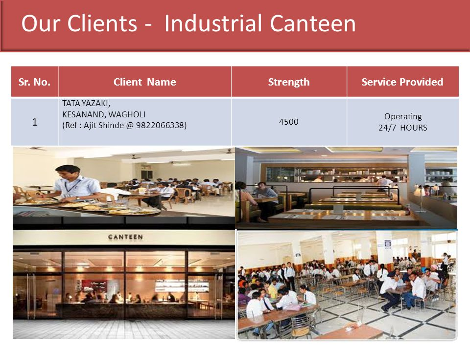 Our Clients - Industrial Canteen