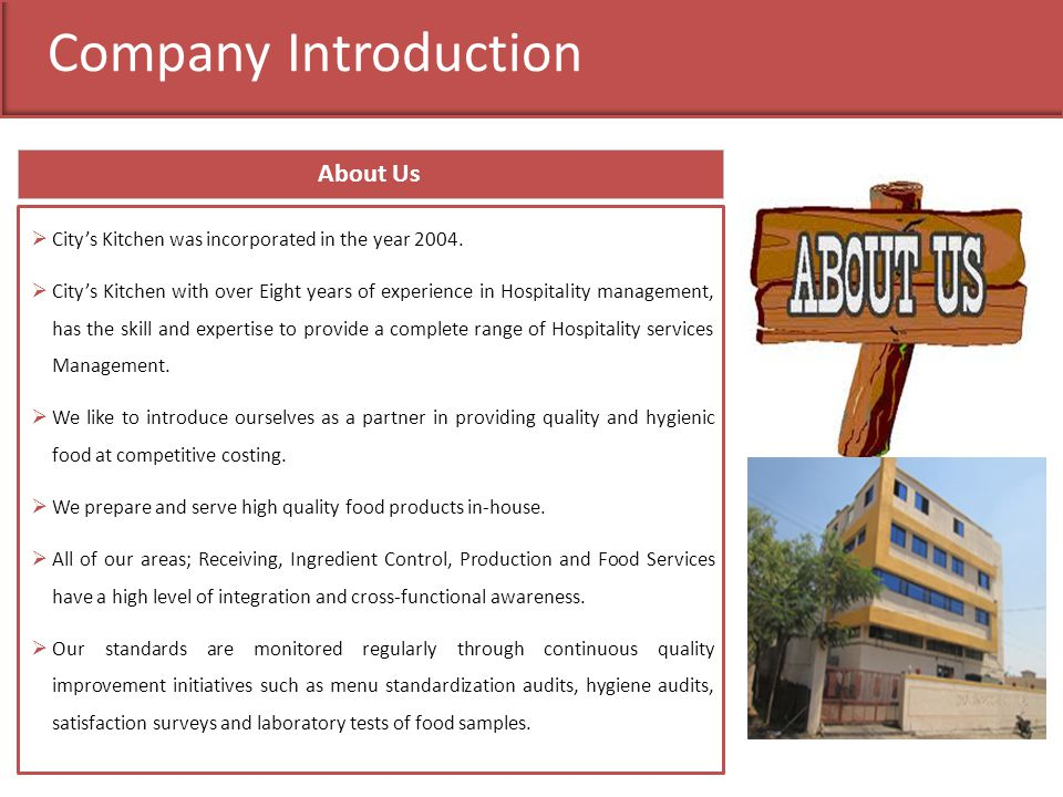 Company Introduction About Us