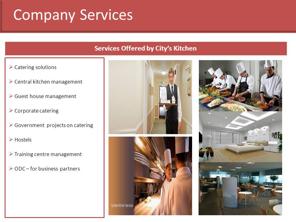 Services Offered by City's Kitchen