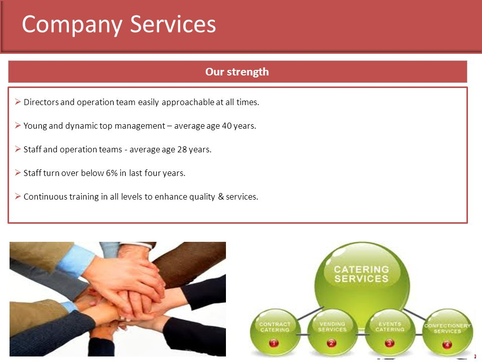 Company Services Our strength