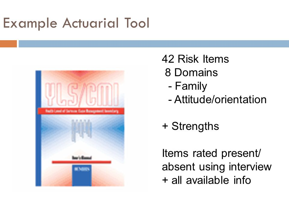 Example Actuarial Tool