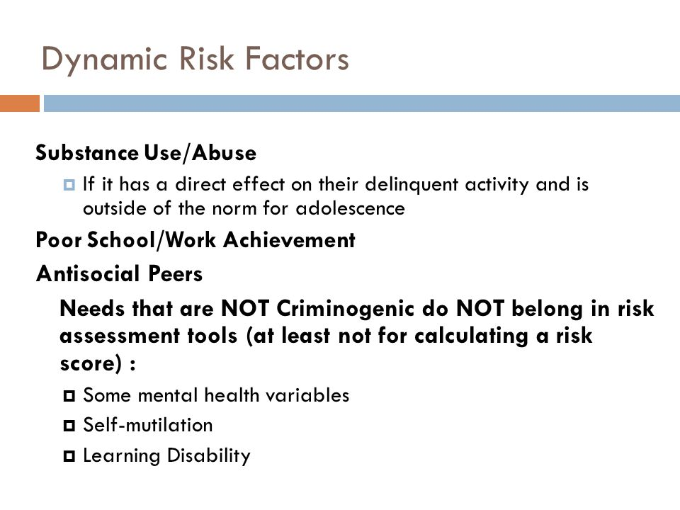 Dynamic Risk Factors Antisocial Peers