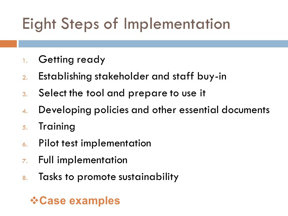 Eight Steps of Implementation