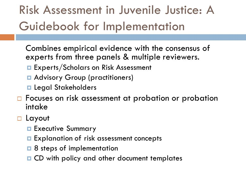 Risk Assessment in Juvenile Justice: A Guidebook for Implementation