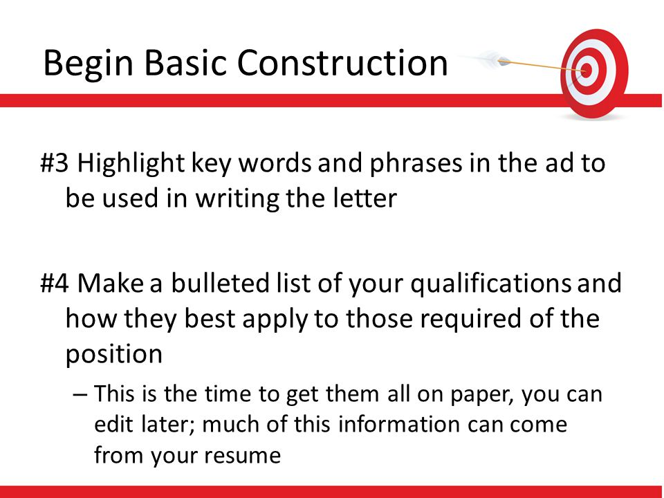 Begin Basic Construction