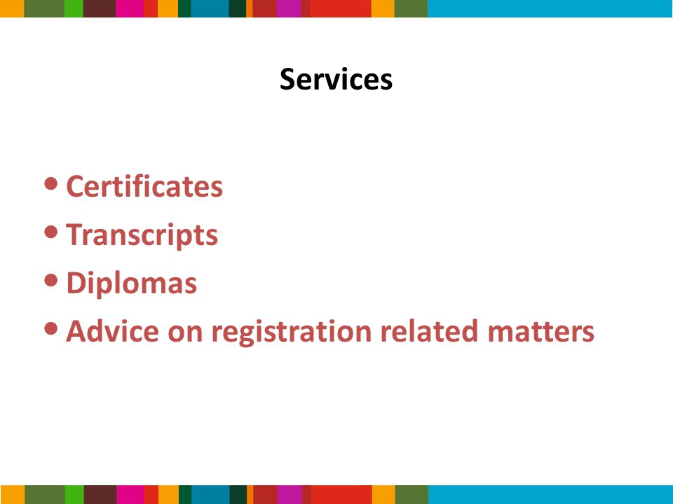 Advice on registration related matters