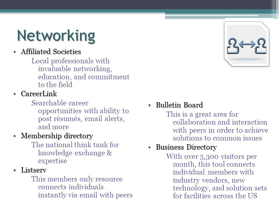 Networking Affiliated Societies