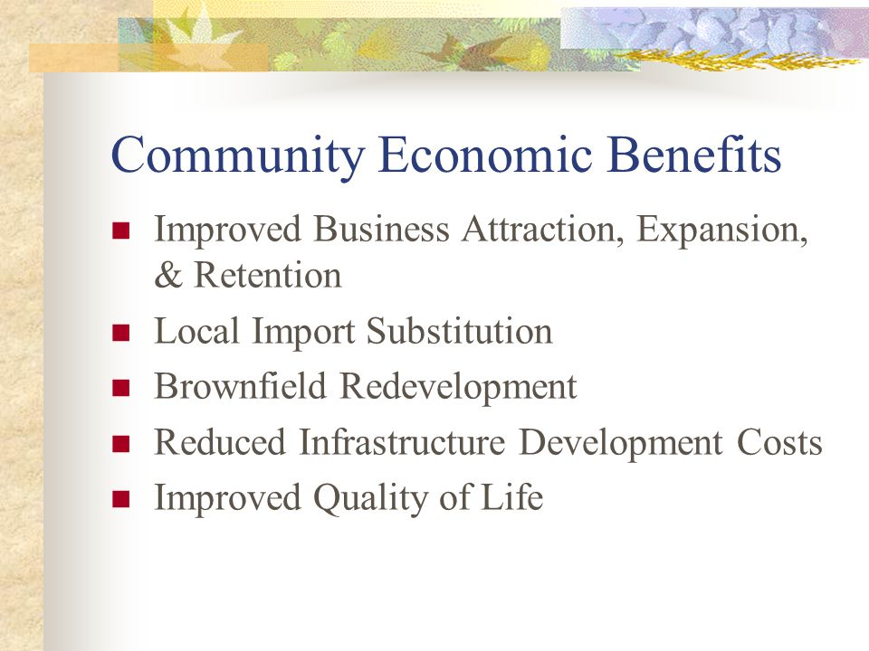 Community Economic Benefits