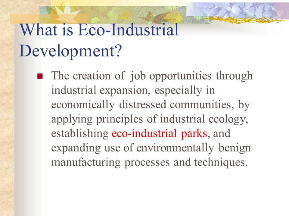 What is Eco-Industrial Development