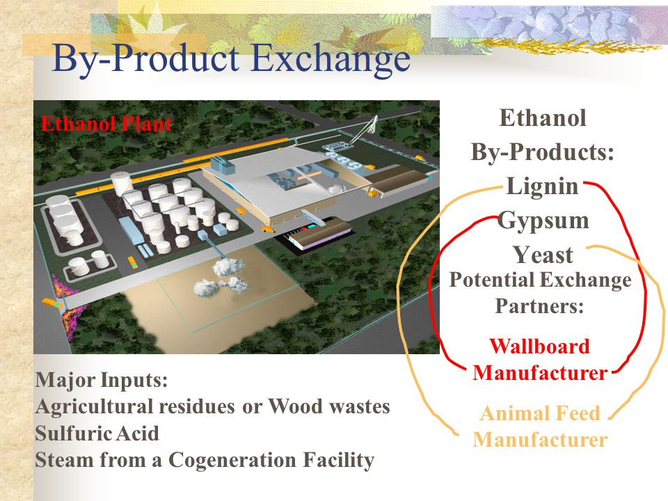 By-Product Exchange Ethanol By-Products: Lignin Gypsum Yeast