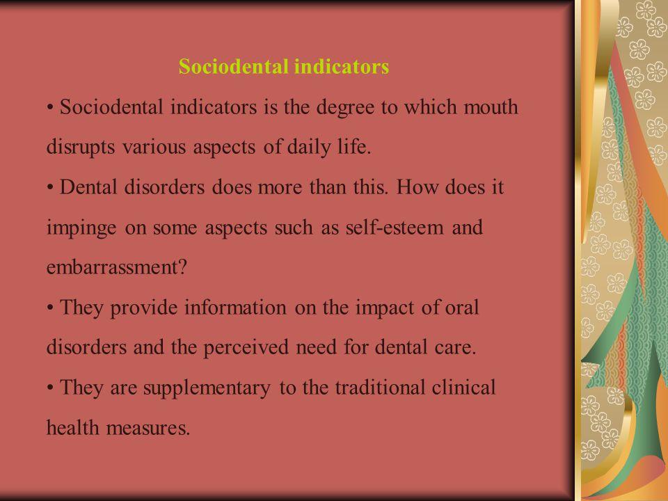 Sociodental indicators