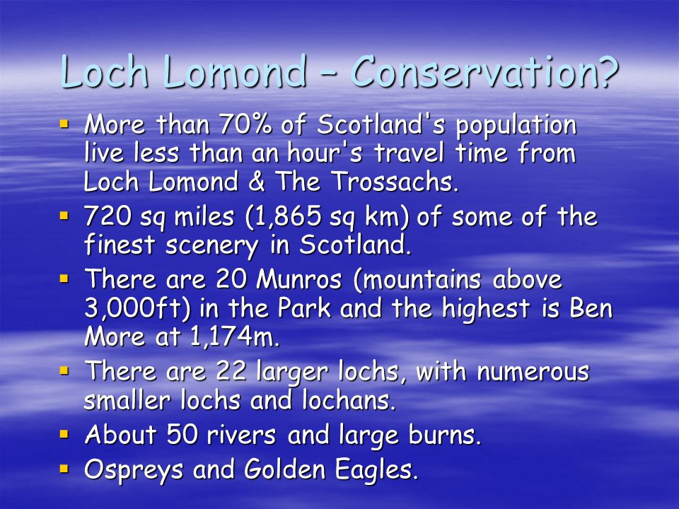 Loch Lomond – Conservation