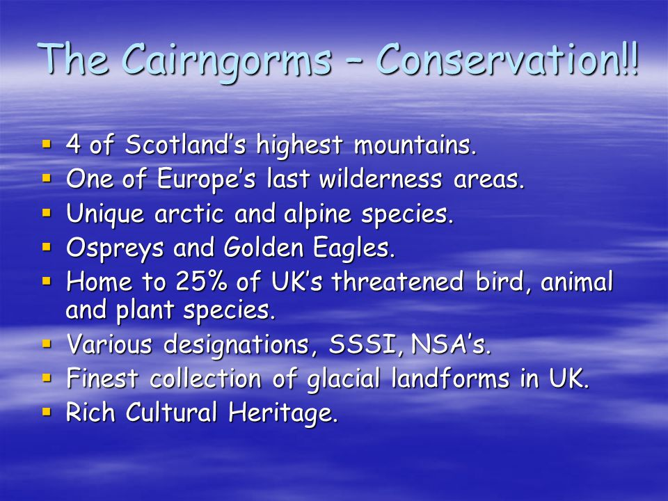 The Cairngorms – Conservation!!