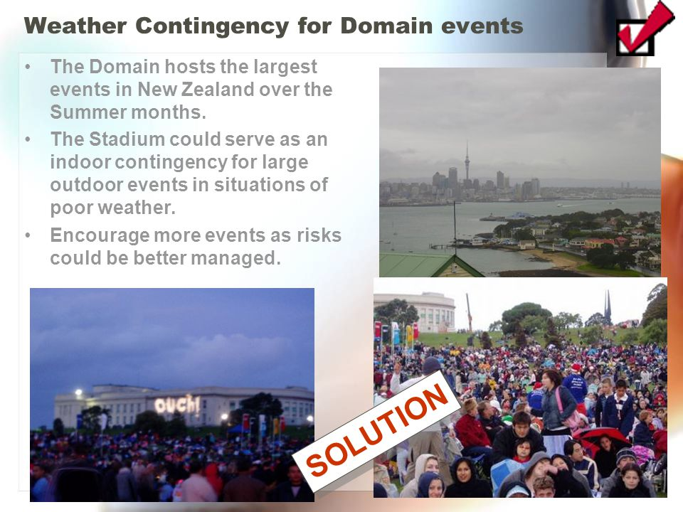 Weather Contingency for Domain events