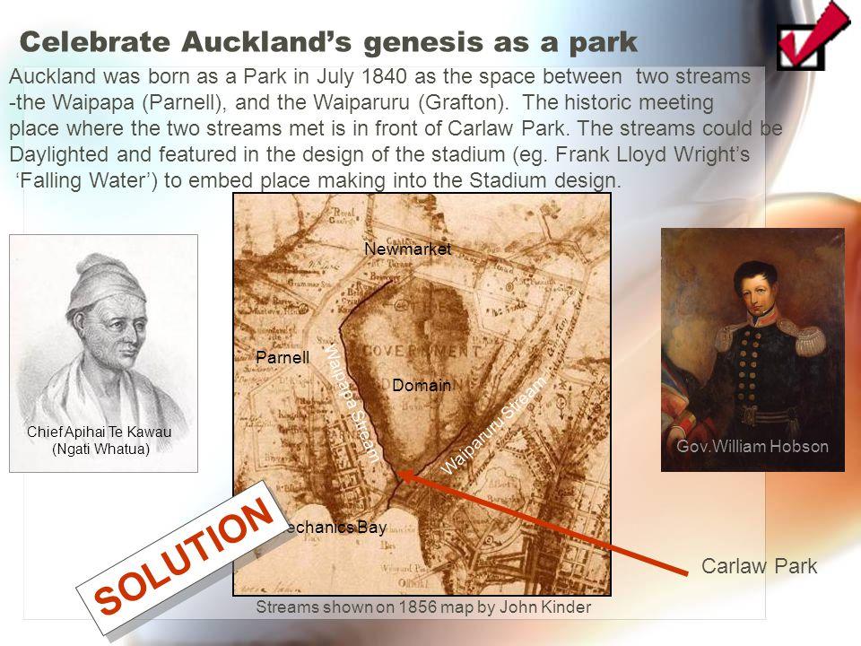 Celebrate Auckland's genesis as a park