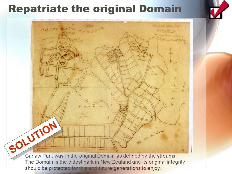 Repatriate the original Domain
