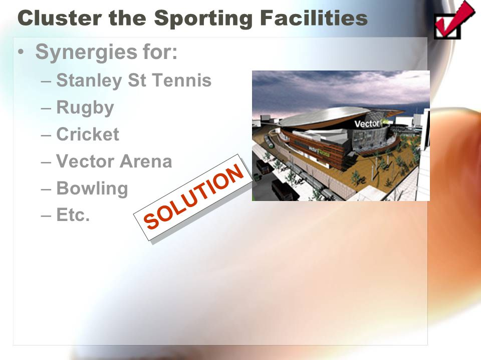 Cluster the Sporting Facilities