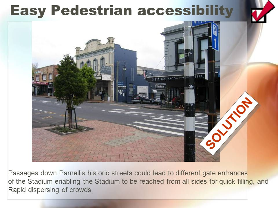 Easy Pedestrian accessibility