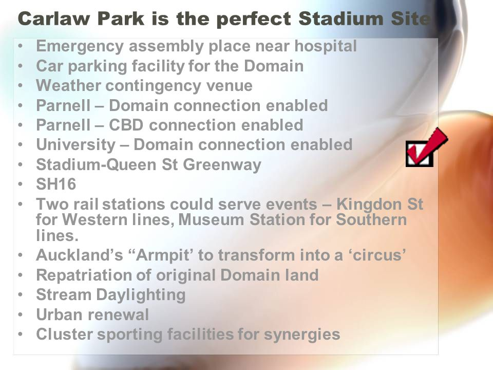 Carlaw Park is the perfect Stadium Site