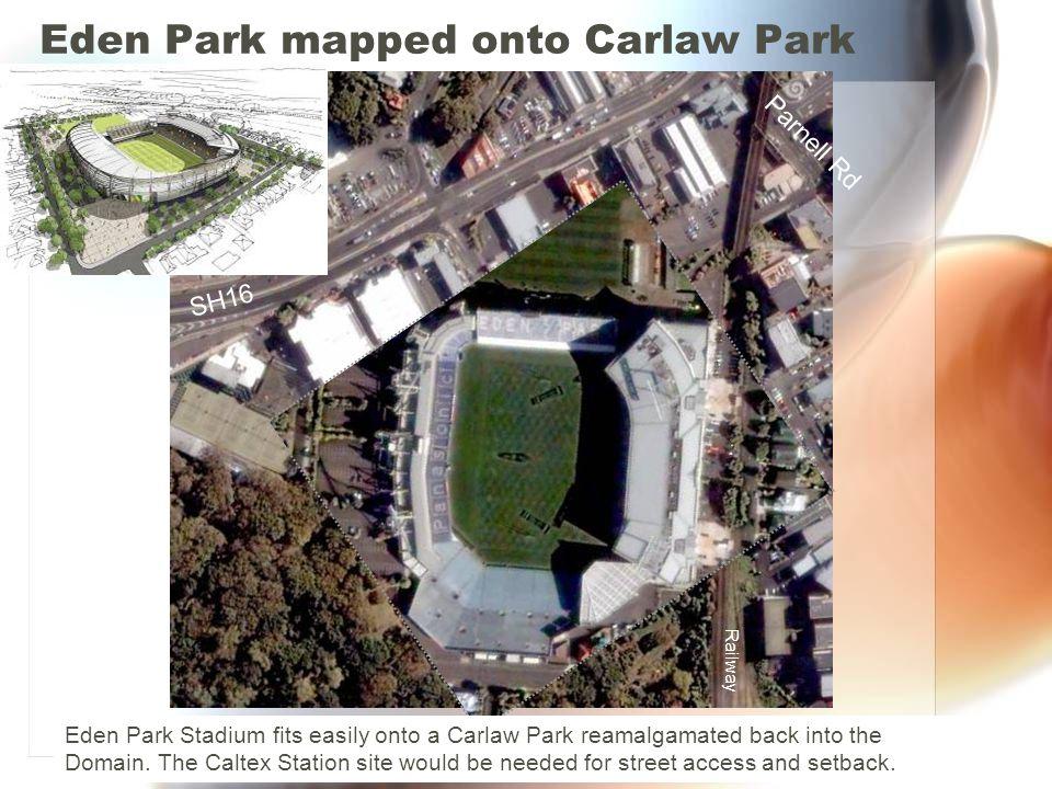 Eden Park mapped onto Carlaw Park
