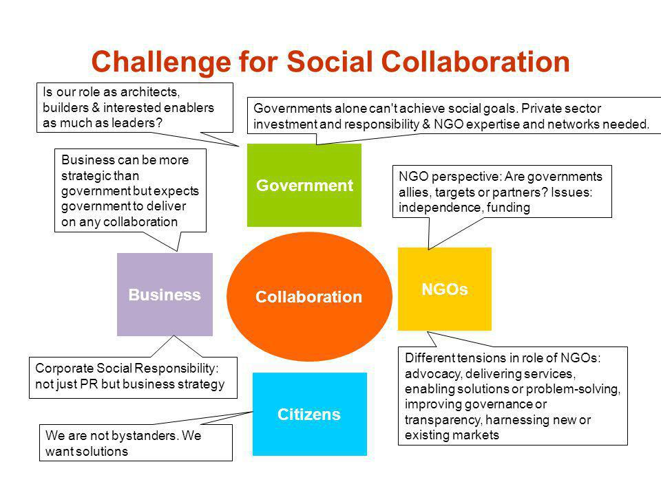 Challenge for Social Collaboration