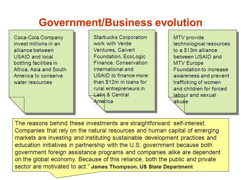 Government/Business evolution
