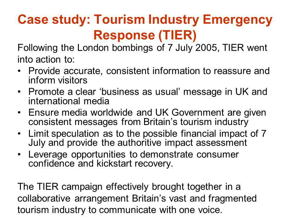Case study: Tourism Industry Emergency Response (TIER)