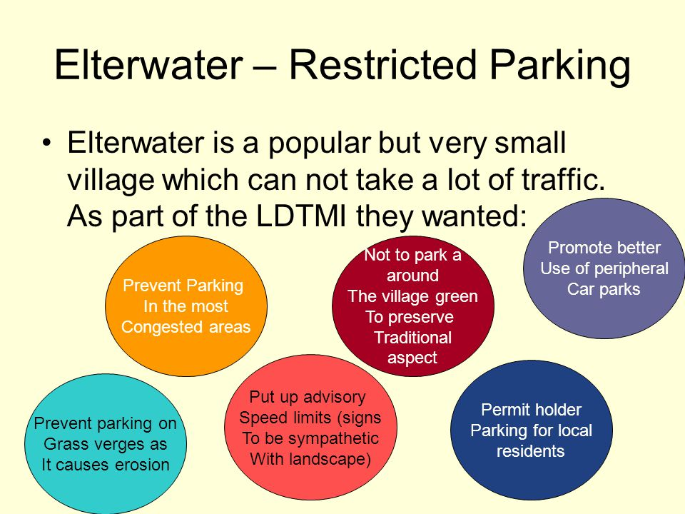 Elterwater – Restricted Parking