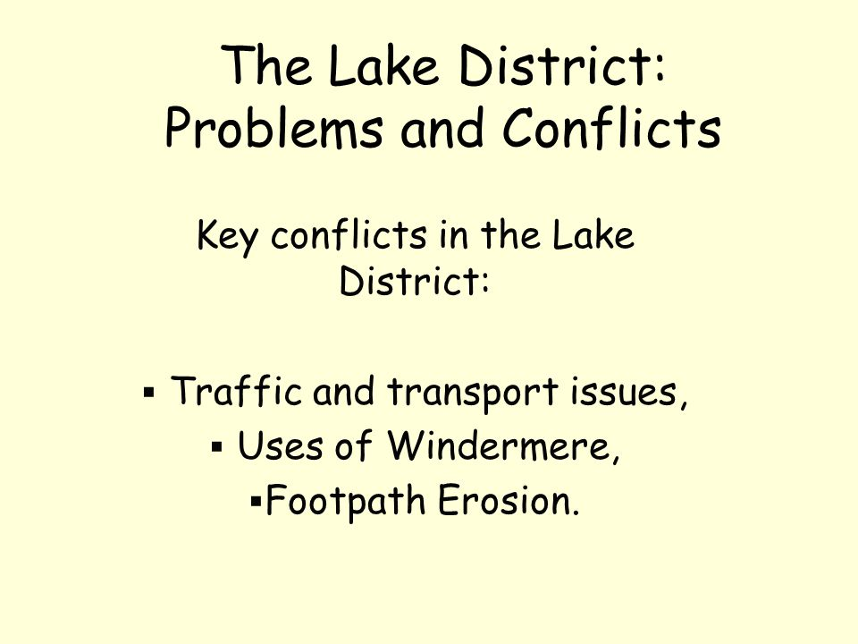 The Lake District: Problems and Conflicts