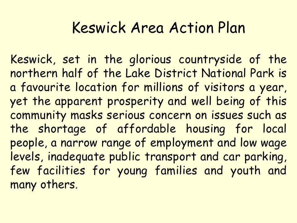 Keswick Area Action Plan