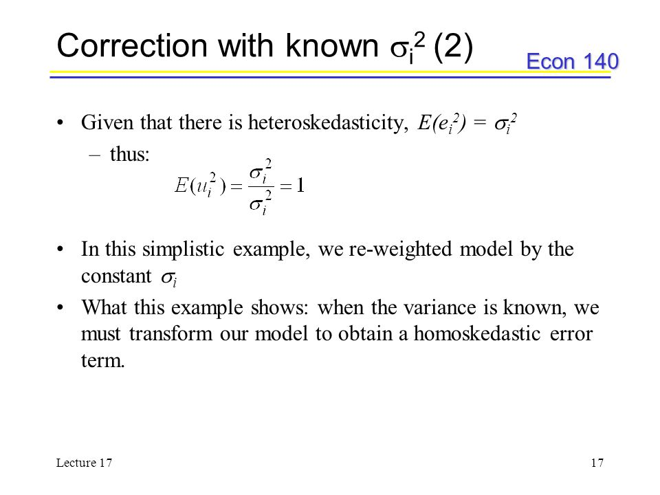Correction with known i2 (2)
