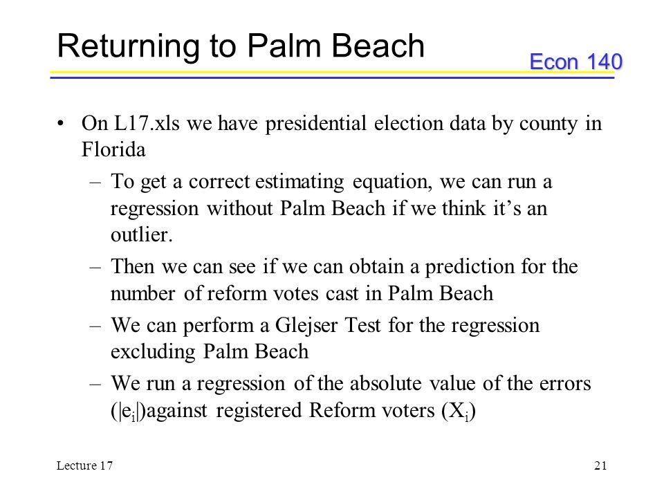 Returning to Palm Beach