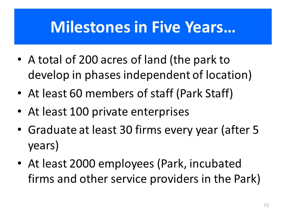 Milestones in Five Years…
