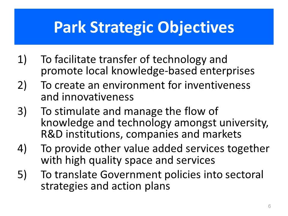 Park Strategic Objectives