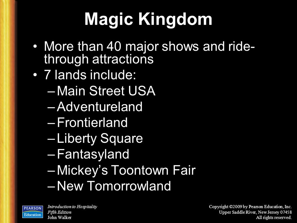 Magic Kingdom More than 40 major shows and ride-through attractions