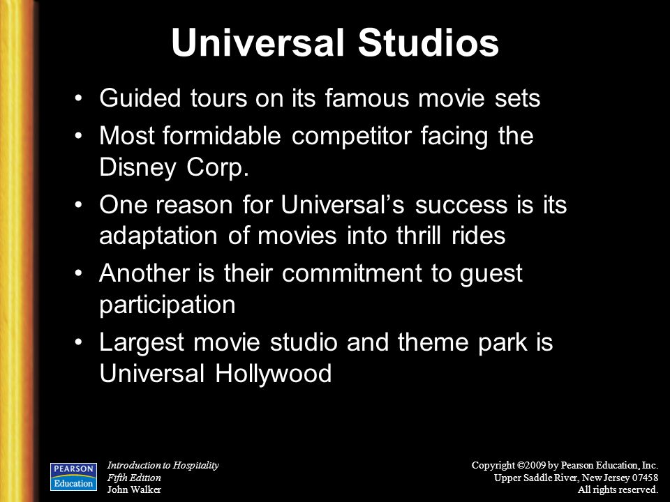 Universal Studios Guided tours on its famous movie sets