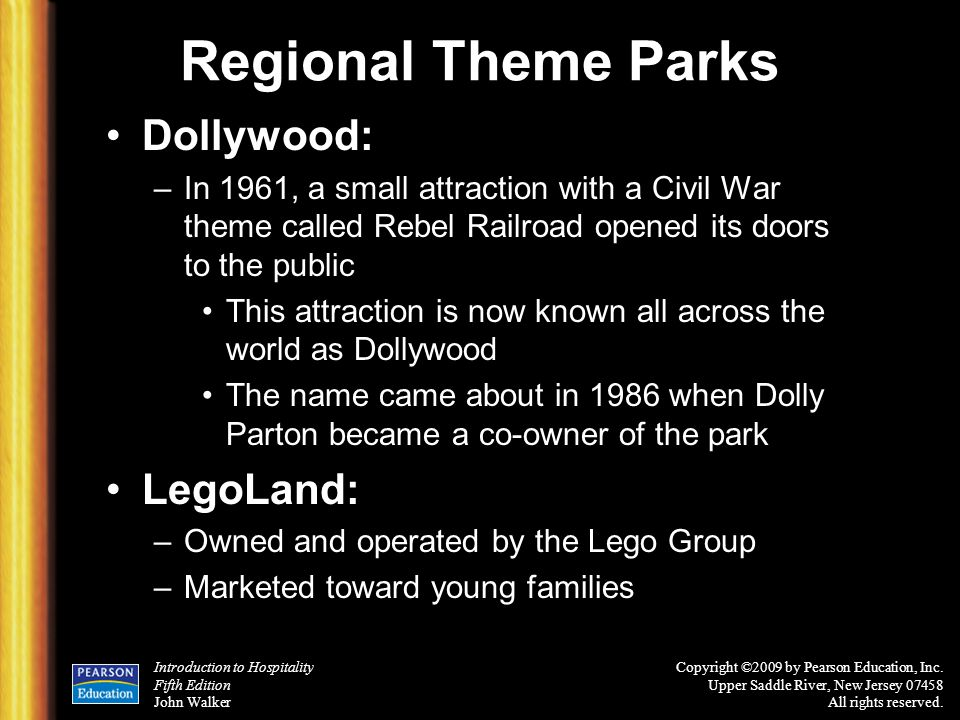 Regional Theme Parks Dollywood: LegoLand: