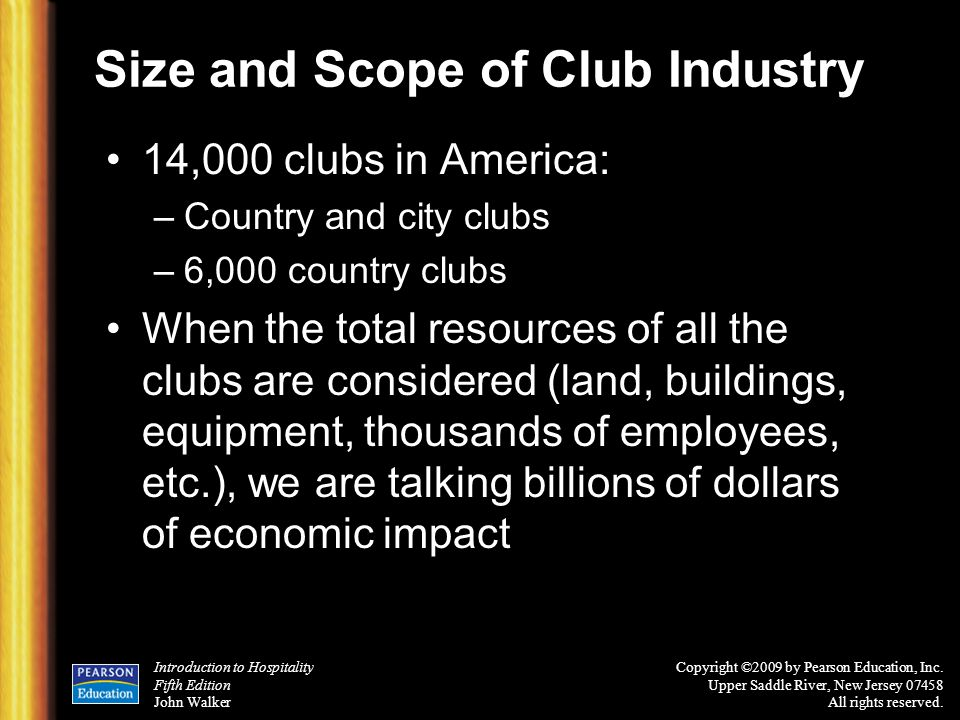 Size and Scope of Club Industry