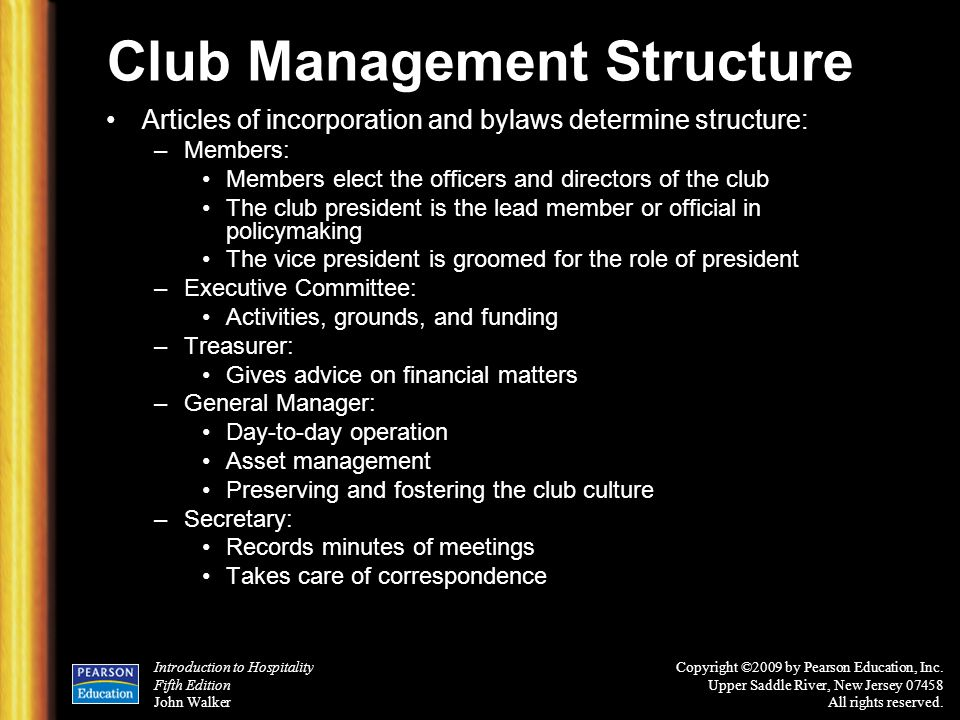 Club Management Structure