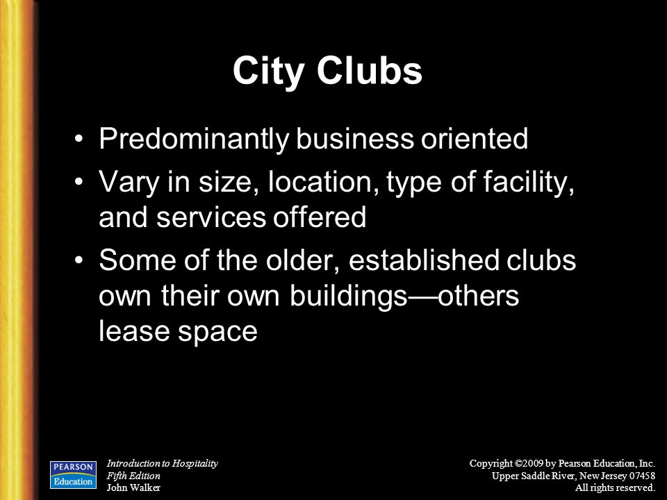 City Clubs Predominantly business oriented