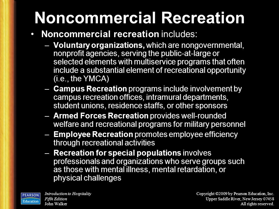 Noncommercial Recreation