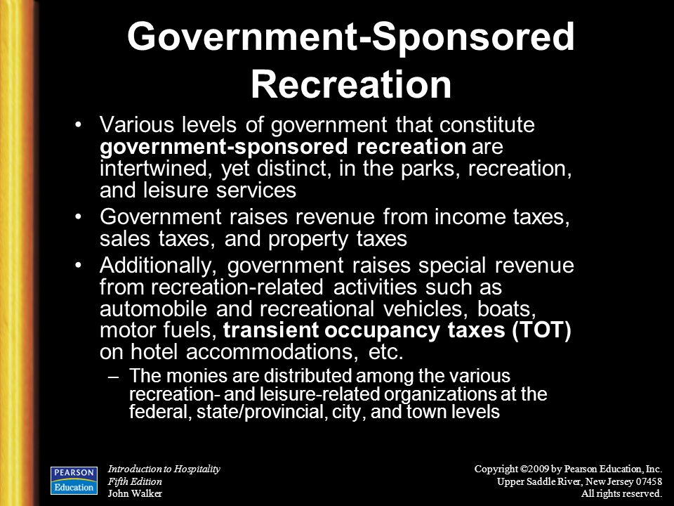 Government-Sponsored Recreation