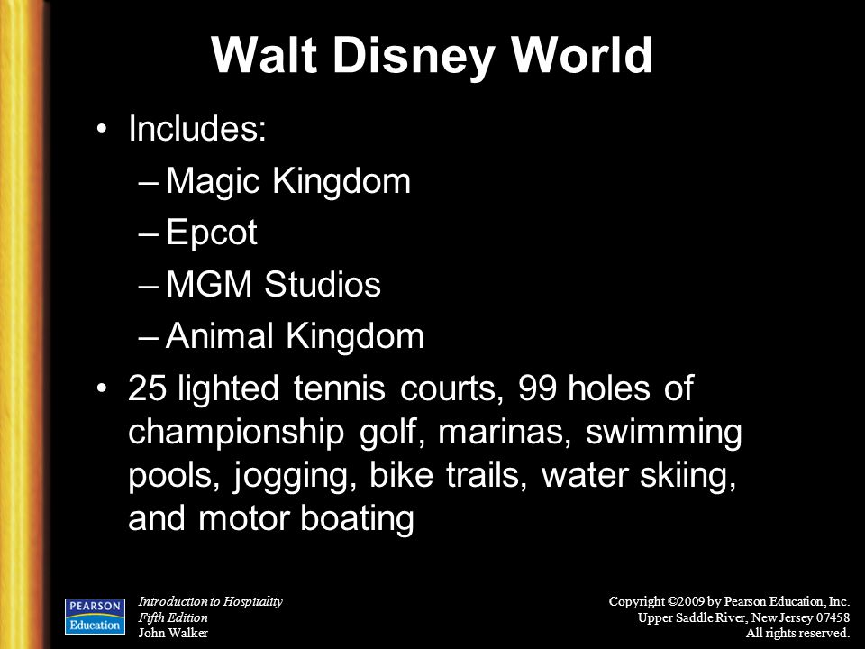 Walt Disney World Includes: Magic Kingdom Epcot MGM Studios