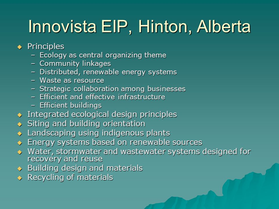 Innovista EIP, Hinton, Alberta