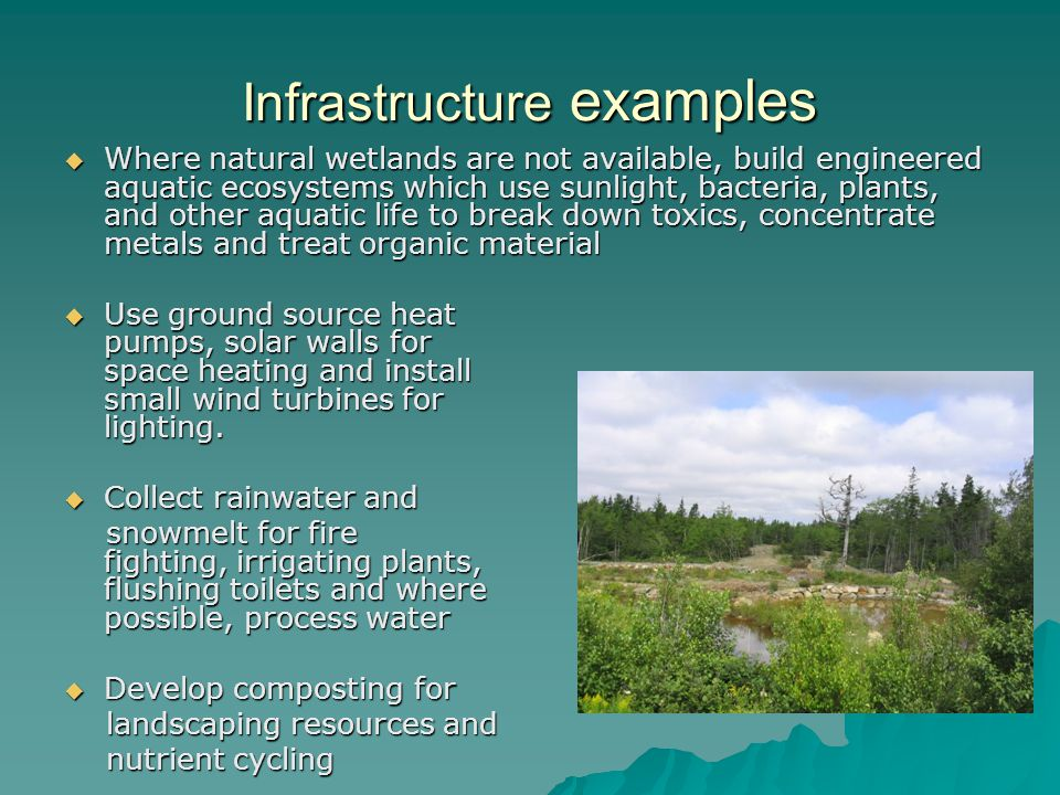 Infrastructure examples